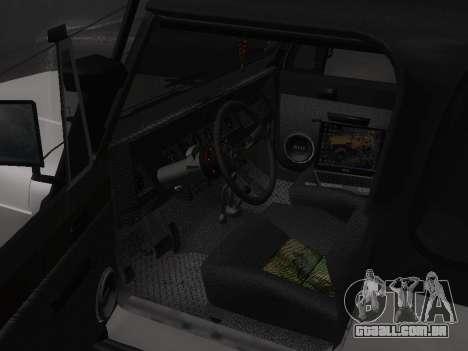 Jeep Wrangler 1986 Troféu para GTA San Andreas vista traseira