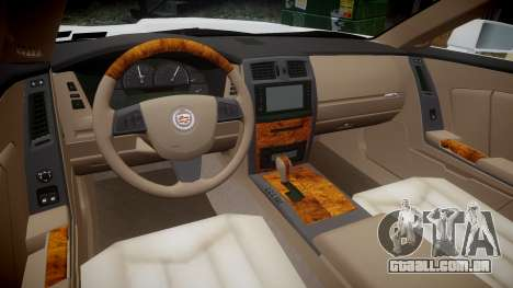 Cadillac XLR-V 2009 para GTA 4 vista de volta