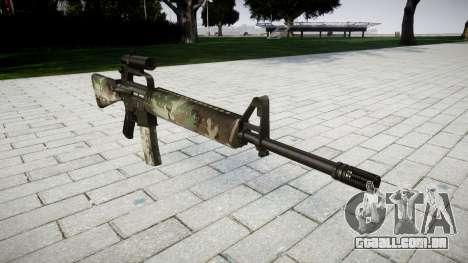 O M16A2 rifle [óptica] floresta para GTA 4