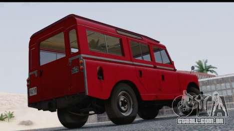 Land Rover Series IIa LWB Wagon 1962-1971 para GTA San Andreas esquerda vista