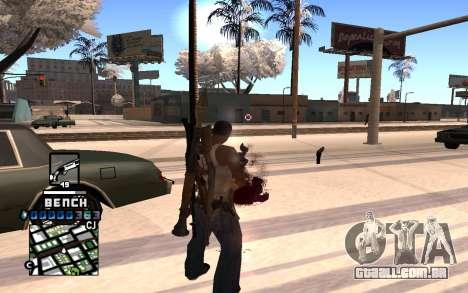 C-HUD Bench para GTA San Andreas segunda tela