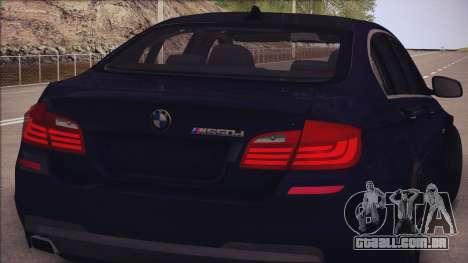 BMW M550d 2014 para GTA San Andreas vista traseira