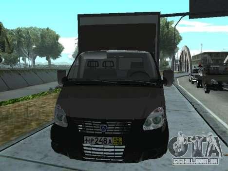 GAZel 3302 para GTA San Andreas esquerda vista