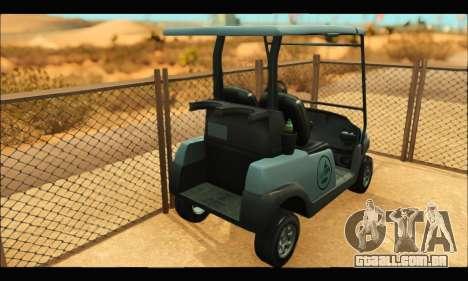 Caddy (GTA V) para GTA San Andreas traseira esquerda vista