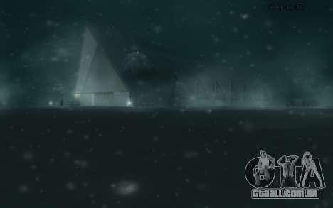 Snow Mod para GTA San Andreas quinto tela