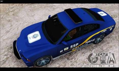 Dodge Charger SXT PREMIUM V6 SSP DF 2014 para GTA San Andreas traseira esquerda vista