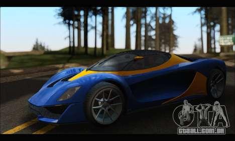 Grotti Turismo R v2 (GTA V) para GTA San Andreas esquerda vista