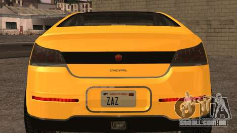 Cheval Surge 1.1 (IVF) para GTA San Andreas vista traseira