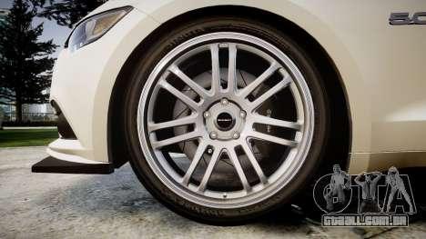 Ford Mustang GT 2015 Custom Kit black stripes para GTA 4 vista de volta