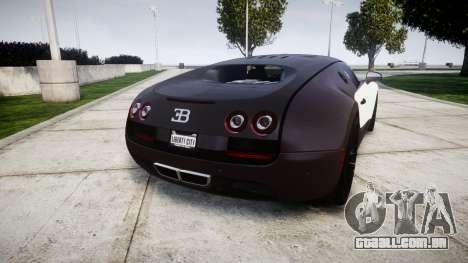 Bugatti Veyron 16.4 Super Sport [EPM] Carbon para GTA 4 traseira esquerda vista