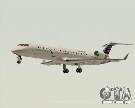 Bombardier CRJ700 American Eagle Airlines para GTA San Andreas esquerda vista