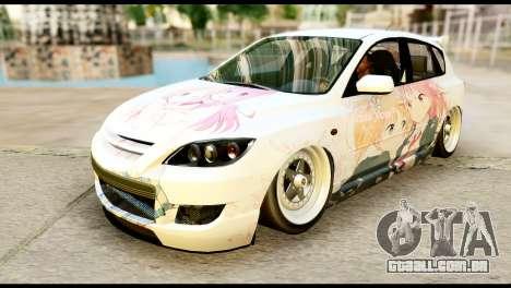 Mazda Speed 3 [Sakura Trick Itasha] para GTA San Andreas