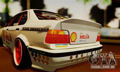 BMW M3 E36 Darnitsa Bandits para GTA San Andreas vista traseira