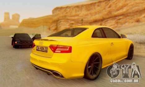 Audi RS5 (RC) para GTA San Andreas vista direita