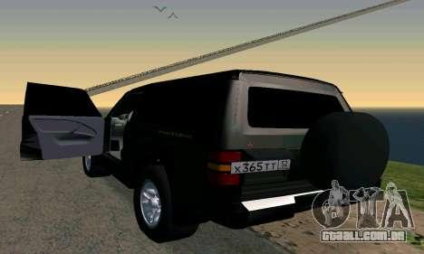 Mitsubishi Pajero Intercooler Turbo 2800 para GTA San Andreas esquerda vista