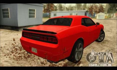 Dodge Challenger SRT-8 2010 v2.0 para GTA San Andreas traseira esquerda vista