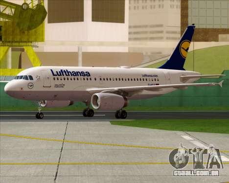 Airbus A319-100 Lufthansa para GTA San Andreas vista direita