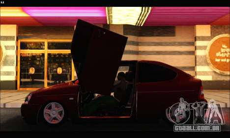 Lada Priora Coupe para GTA San Andreas traseira esquerda vista