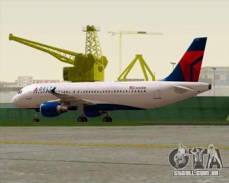 Airbus  A320-200 Delta Airlines para GTA San Andreas vista interior