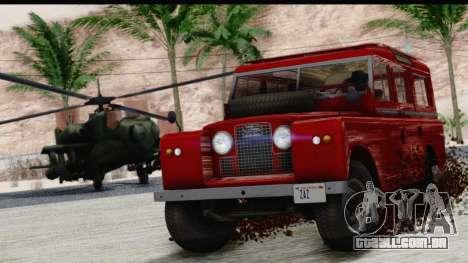 Land Rover Series IIa LWB Wagon 1962-1971 para GTA San Andreas vista direita