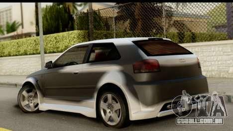 Audi A3 Tuning para GTA San Andreas esquerda vista