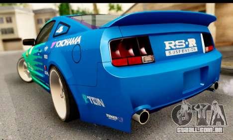 Ford Mustang Falken para GTA San Andreas esquerda vista