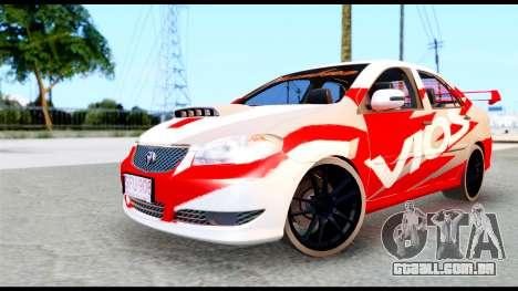 Toyota Vios TRD Racing para GTA San Andreas