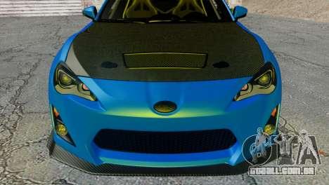 Subaru BRZ Drift Built para GTA San Andreas vista direita