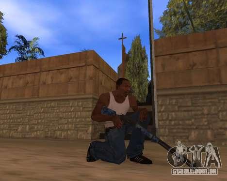 Ano novo Pack de Armas para GTA San Andreas quinto tela