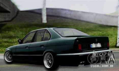 BMW 525 E34 Rims para GTA San Andreas esquerda vista