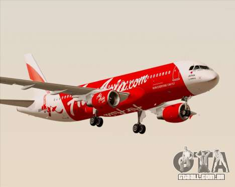 Airbus A320-200 Air Asia Japan para GTA San Andreas vista direita