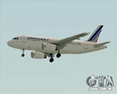 Airbus A319-100 Air France para GTA San Andreas vista interior