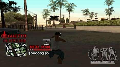 C-HUD Real Man para GTA San Andreas