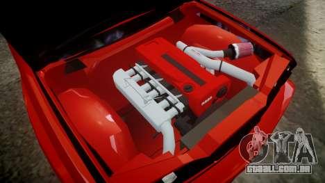 BMW E30 M3 para GTA 4 vista de volta