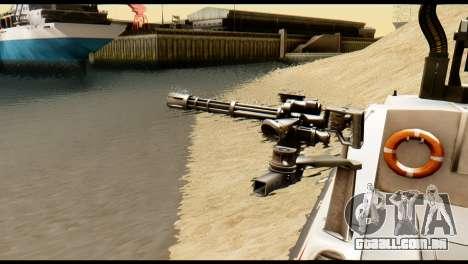 DV-15 Interceptor BF4 para GTA San Andreas traseira esquerda vista