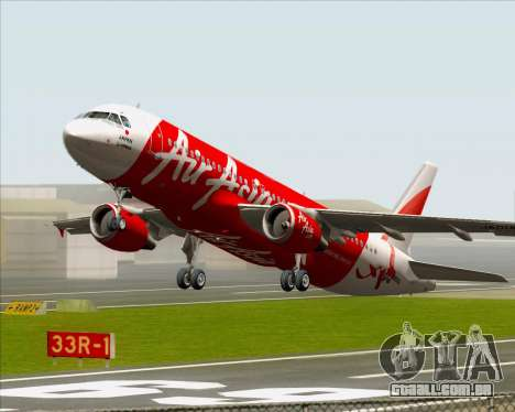 Airbus A320-200 Air Asia Japan para GTA San Andreas vista inferior