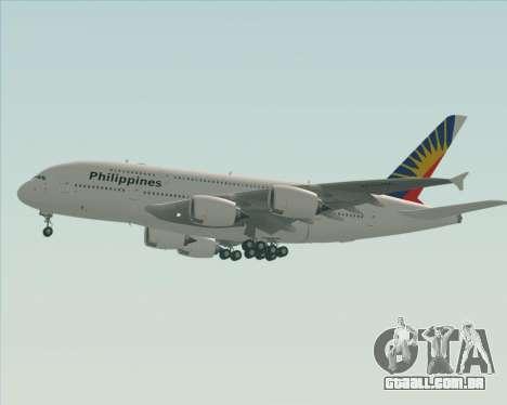 Airbus A380-800 Philippine Airlines para GTA San Andreas vista inferior