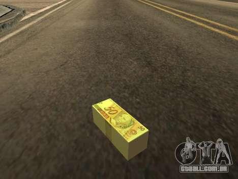 Mod do Brasileiro dinheiro para GTA San Andreas segunda tela