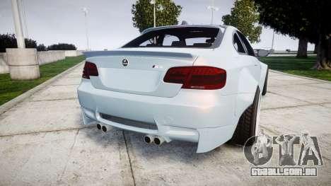 BMW E92 M3 LibertyWalk para GTA 4 traseira esquerda vista
