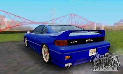 New Alpha para GTA San Andreas traseira esquerda vista