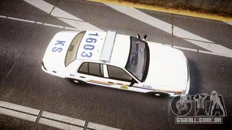 Ford Crown Victoria Canada Police [ELS] para GTA 4 vista direita