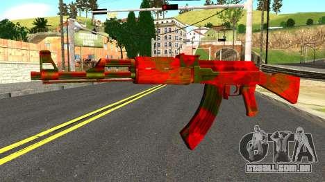AK47 with Blood para GTA San Andreas