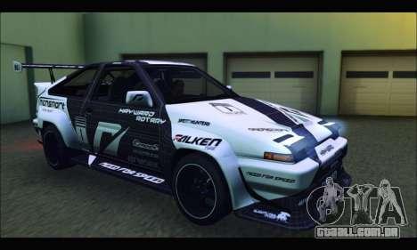 Toyota Corolla Trueno Team DMAC para GTA San Andreas