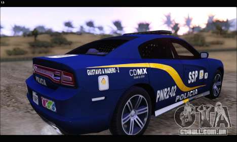 Dodge Charger SXT PREMIUM V6 SSP DF 2014 para GTA San Andreas esquerda vista