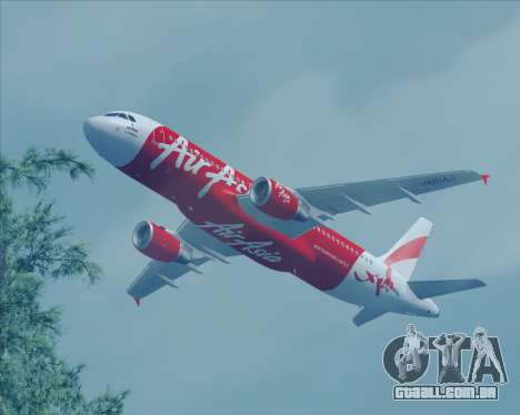 Airbus A320-200 Air Asia Japan para GTA San Andreas vista traseira