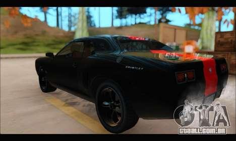 Bravata Gauntlet (GTA V) (FIV & АПП) para GTA San Andreas traseira esquerda vista