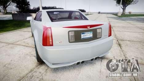 Cadillac XLR-V 2009 para GTA 4 traseira esquerda vista