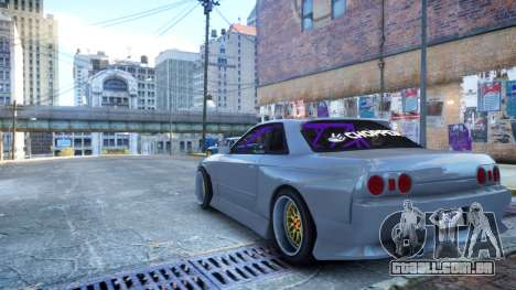 Nissan Skyline R32 GT-R Origin Kit para GTA 4 esquerda vista
