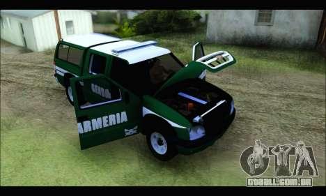 Chevrolet S-10 Gendarmeria para GTA San Andreas vista traseira