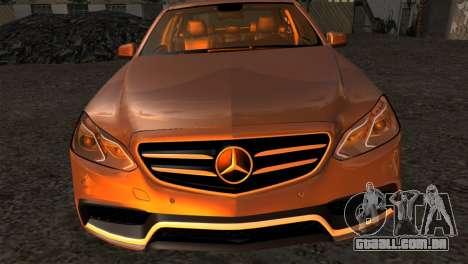 Mercedes-Benz E63 AMG 2014 para GTA San Andreas vista traseira